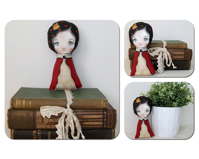 Soft sculpture cloth art doll by micki wilde