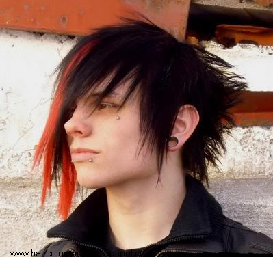 emo hair color pictures. Red emo hair pictures