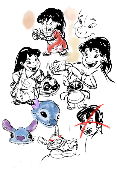 how to draw cute angel from lilo and stitch