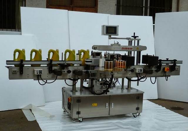 Universal bottles labeler equipment double sides labeling machine şişe etiketleme makinesi