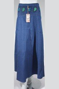 Rok Jeans Trendy SR.434 - Biru Dongker (Toko Jilbab dan Busana Muslimah Terbaru)