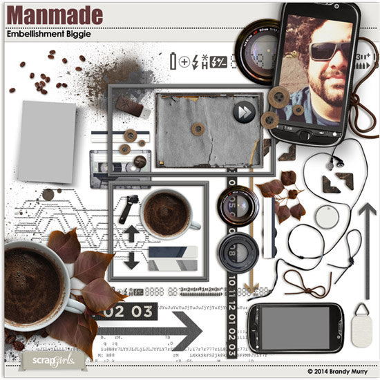 Manmade digital scrapbooking Collection