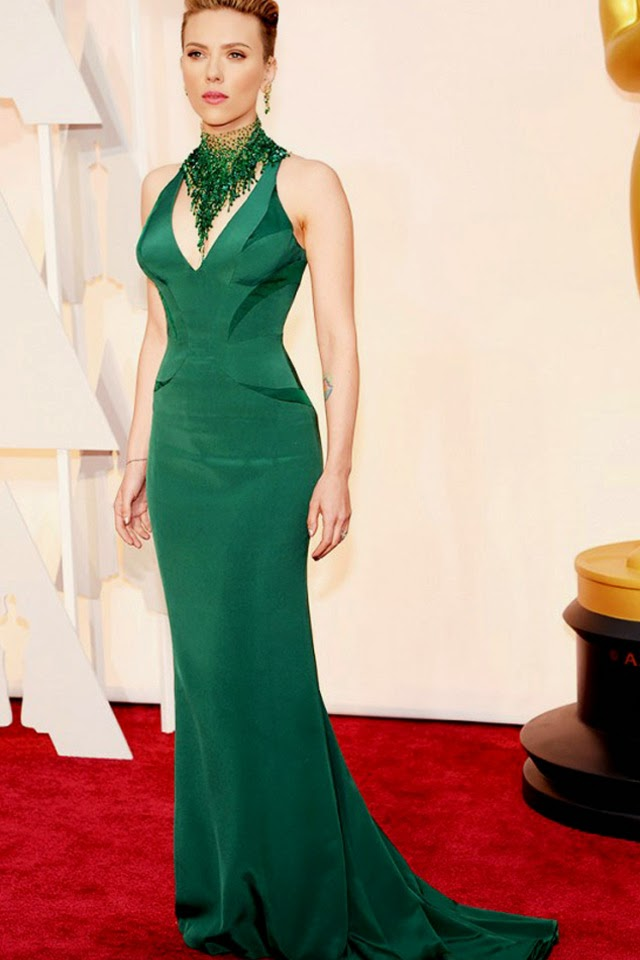 Green dress scarlet Johnson