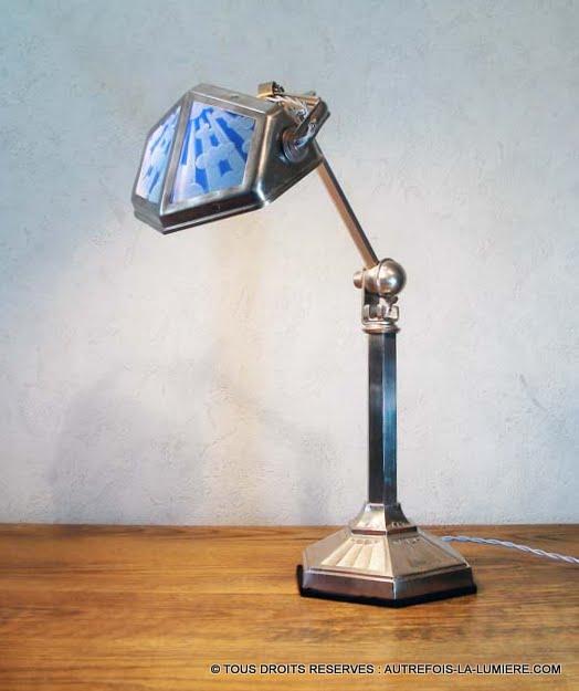 Lampe pirouett art d co - Interrupteur lampe de bureau ...