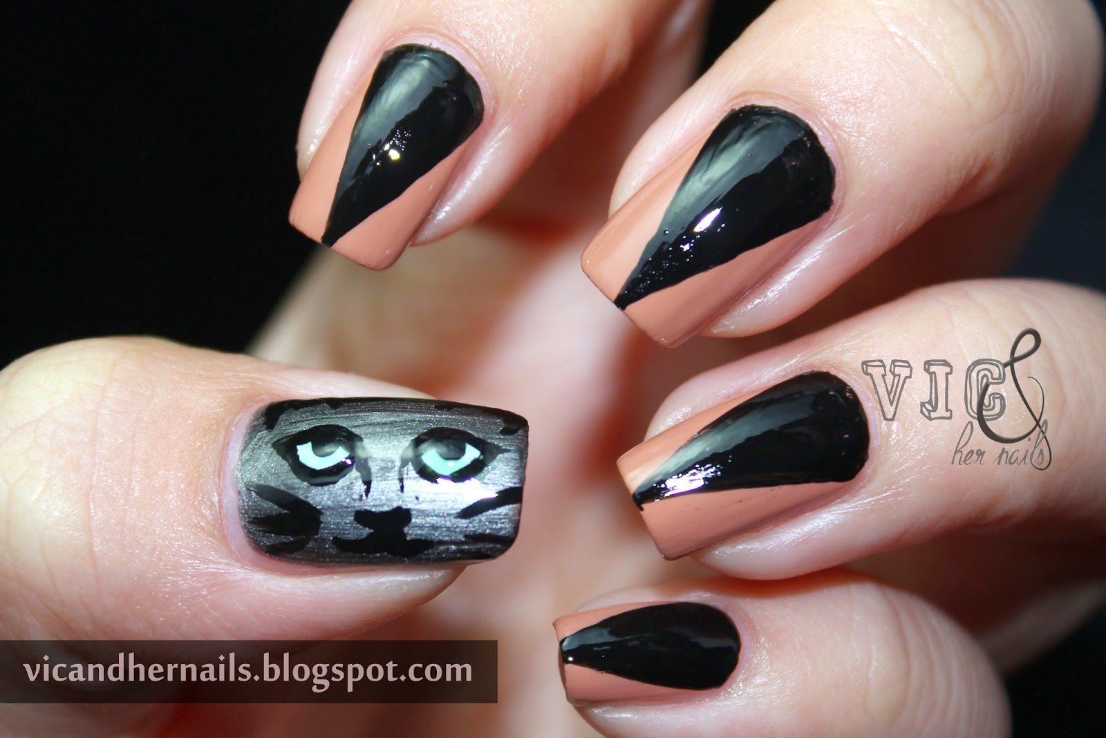 Vic and Her Nails: Halloween Nail Art Challenge - Black ...