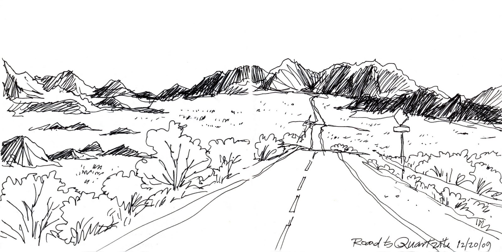 Works in Progress...On Location: Drawing on Location in the Desert