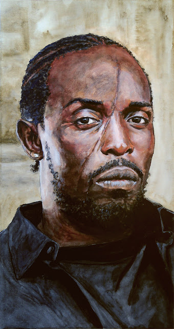 original art of omar little from the wire