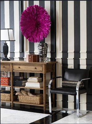 black and white striped furniture. this black and white stripes accent wall becomes even more dramatic because the color continues onto floors rustic wood dresser wicker baskets striped furniture