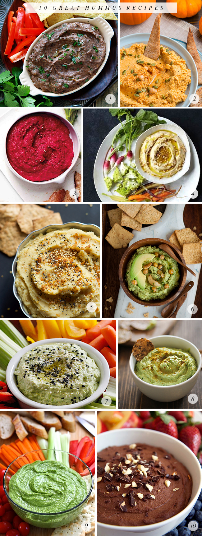 10 Great Hummus Recipes // Bubby and Bean