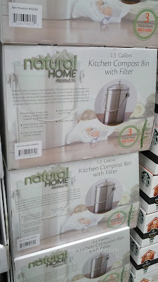Natural Home Kitchen Compost Bin features a modern stainless steel look