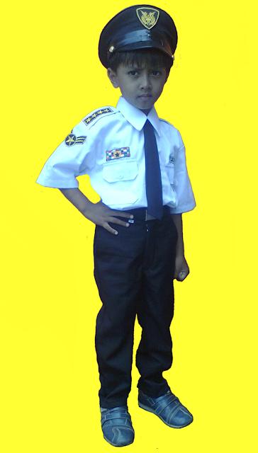 baju profesi anak kostum pilot anak