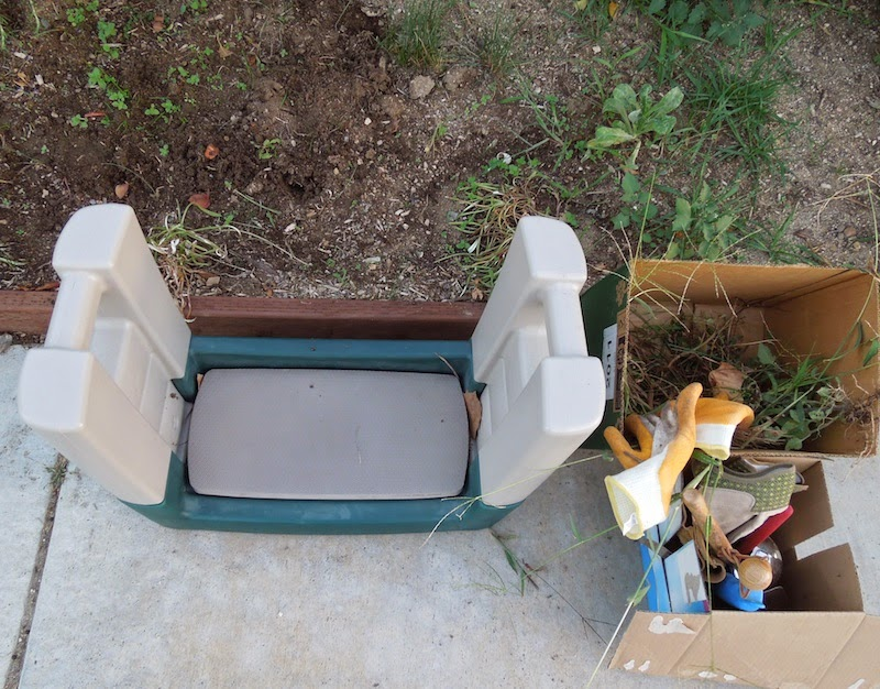 Notice the Foam Pad and Handles on My Garden Kneeler, photo © B. Radisavljevic
