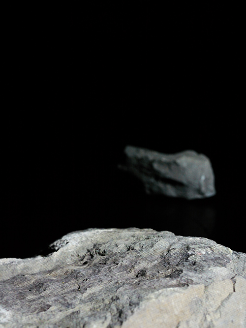 Two rocks with white projected light #1