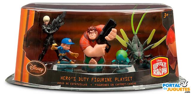 figuras rompe ralph set hero's duty caja disney store