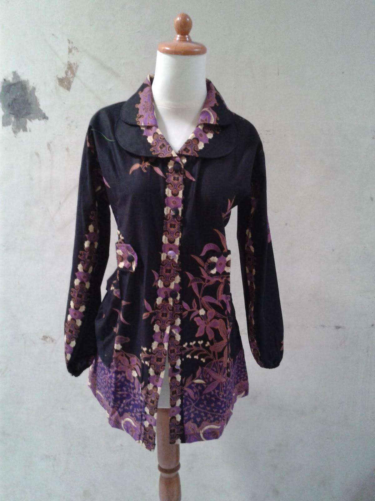 Model Atasan Batik Wanita Lengan Panjang Katun Primis