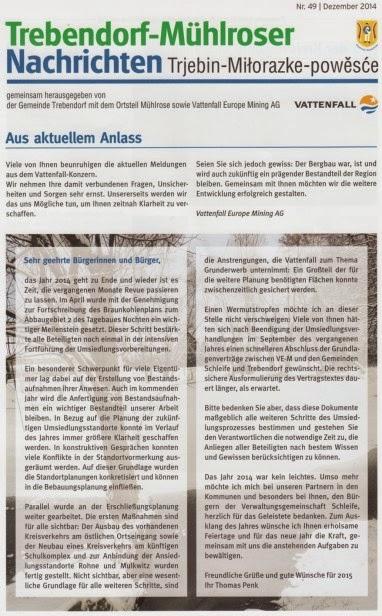 Neues aus Mühlrose: Trebendorf-Mühlroser-Nachrichten Nr. 49 ...