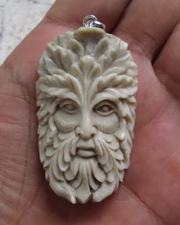 Green Man Antler Pendants 003