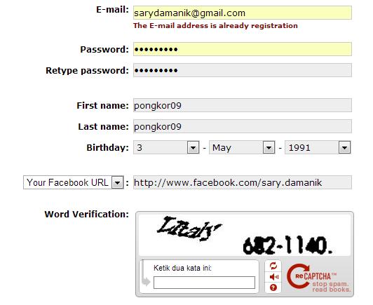 Profil Facebook Dengan Domain Gratis CC.CC