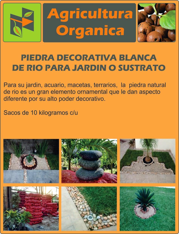 Piedra decorativa bola blanca de rio para jardin 110 for Precio de piedras para jardin
