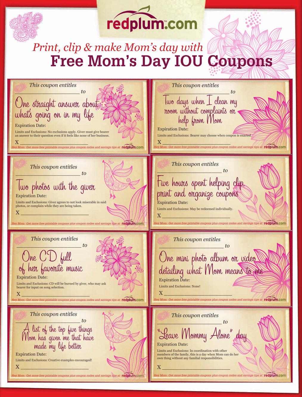 Mum coupons