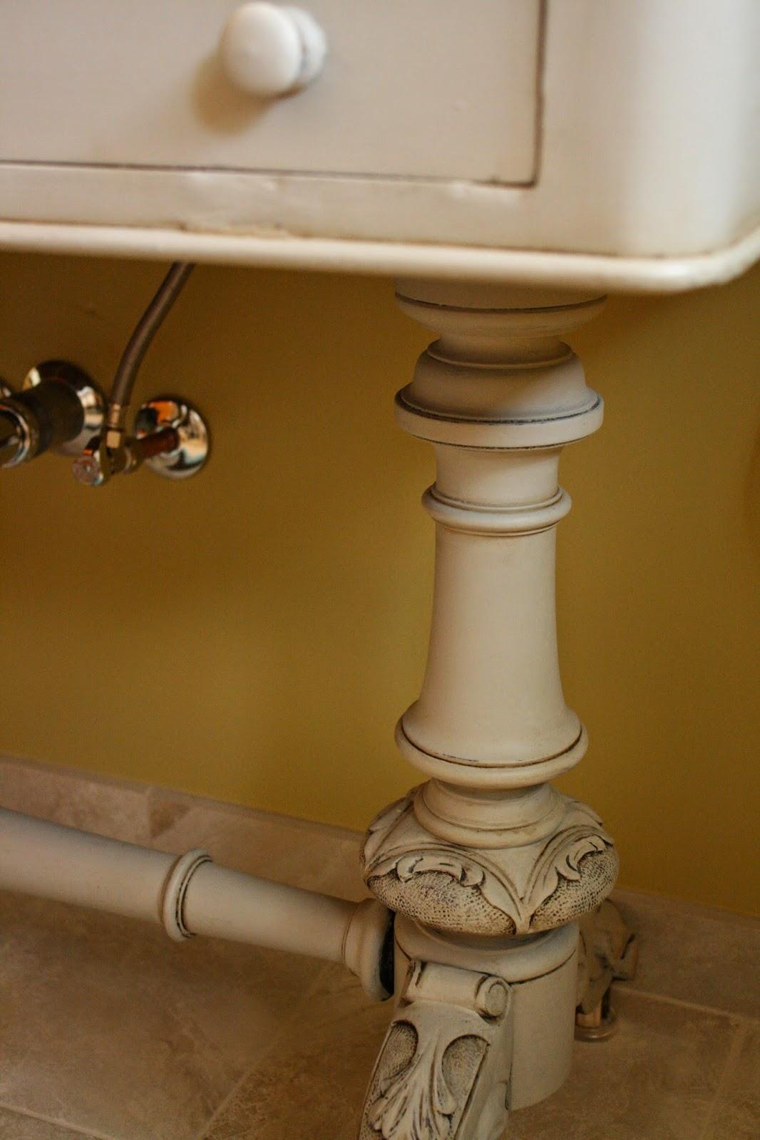 Reloved Rubbish Buffet Turned Bathroom Vanity