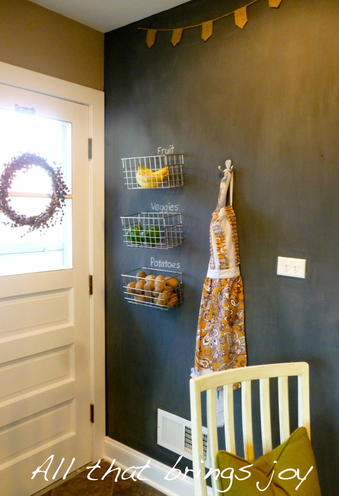 to finish off the space i just hung a little hook on the wall and hung my apron from it i think. Black Bedroom Furniture Sets. Home Design Ideas