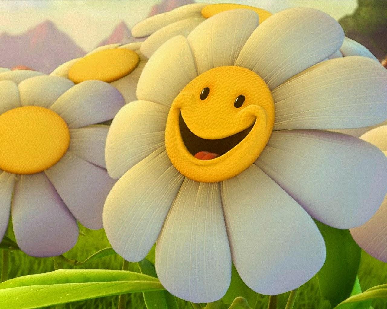 Gambar Bunga Senyum Lucu Indah Terbaru