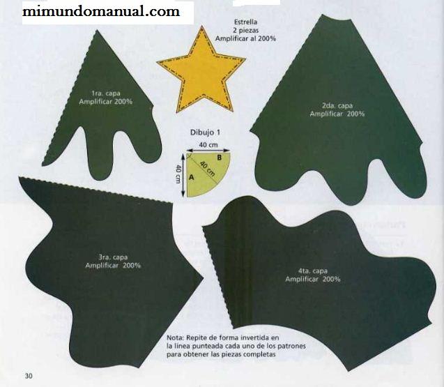 Como hacer un arbolito navideño en fomi | Mimundomanual