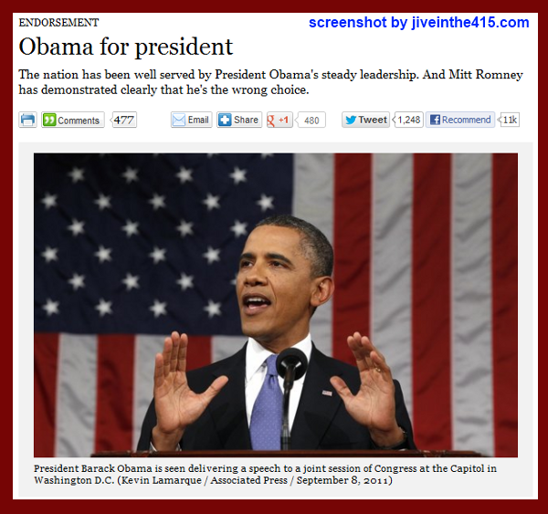 The Los Angeles Times endorses President Obama for re-election