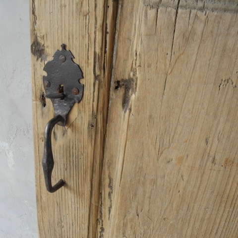 Hardware Detail, 17th Century Tuscan Entrance Door via Chateau Domingue as seen on linenandlavender.net