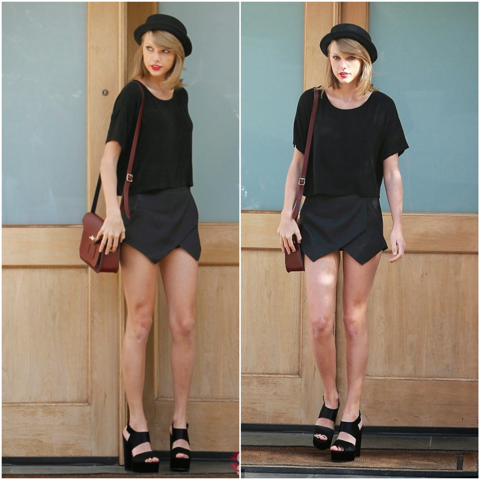 Taylor Swift Flaunts Legs In Skorts.
