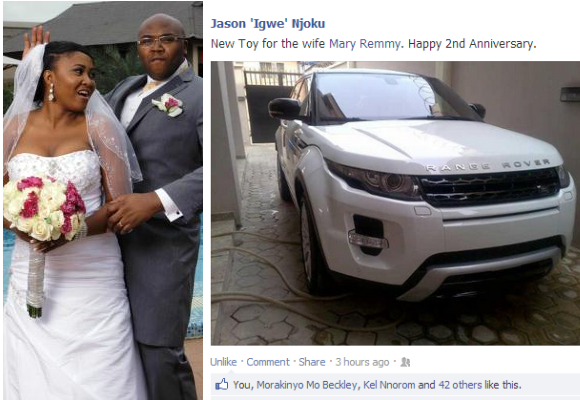 Iroko TV Boss Bought Range Rover Evoque As 2nd Anniversary Gift