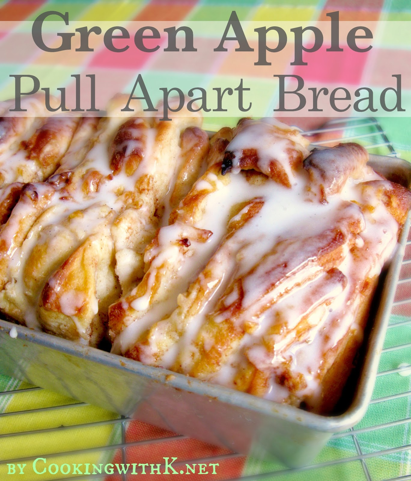 green apple pull apart bread {using rhodes frozen bread}