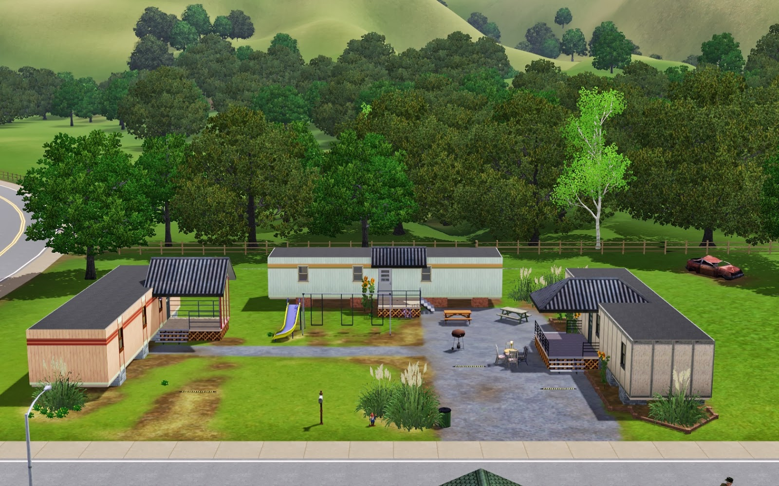 Summer 39 s little sims 3 garden riverview list of houses for Compound home designs