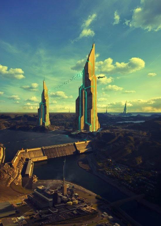 Evgeny Kazantsev ilustrações foto-manipulações ficção futurista