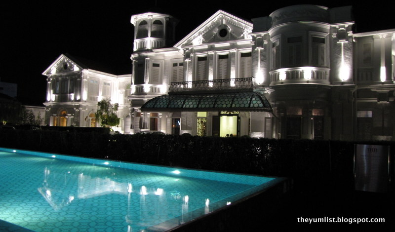 Mansion with pool at night  Macalister Mansion, Design Boutique Hotel, Penang, - The Yum List