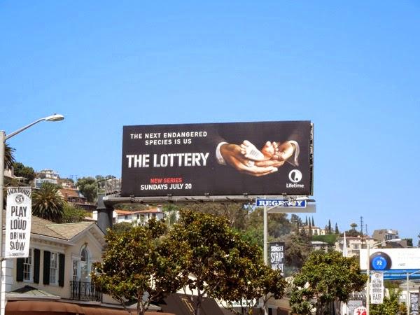 The Lottery series premiere billboard