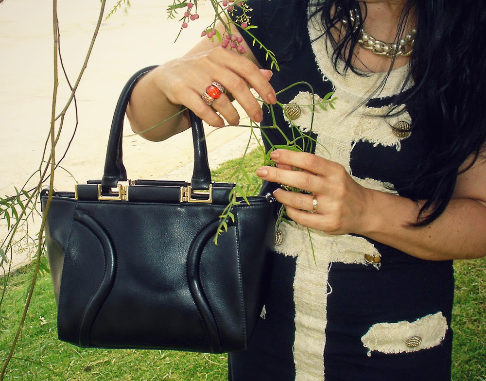 chanel+style+dress