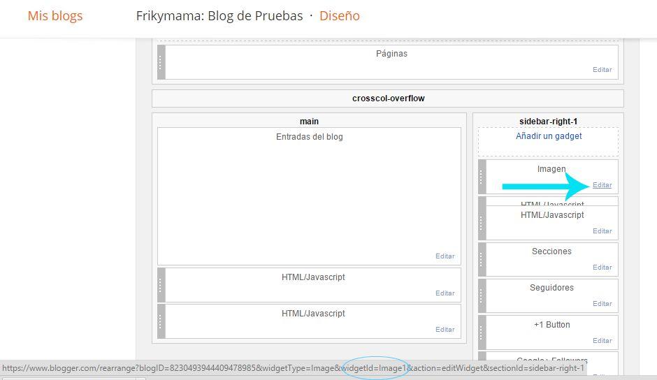 Personalizando la plantilla móvil: Añade y adapta gadgets - Frikymama