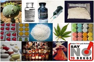 Jenis-Jenis Narkoba, Psikotropika dan Zat Adiktif Lainnya