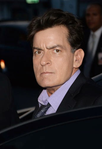 Charlie Sheen attacked her dentist with a knife