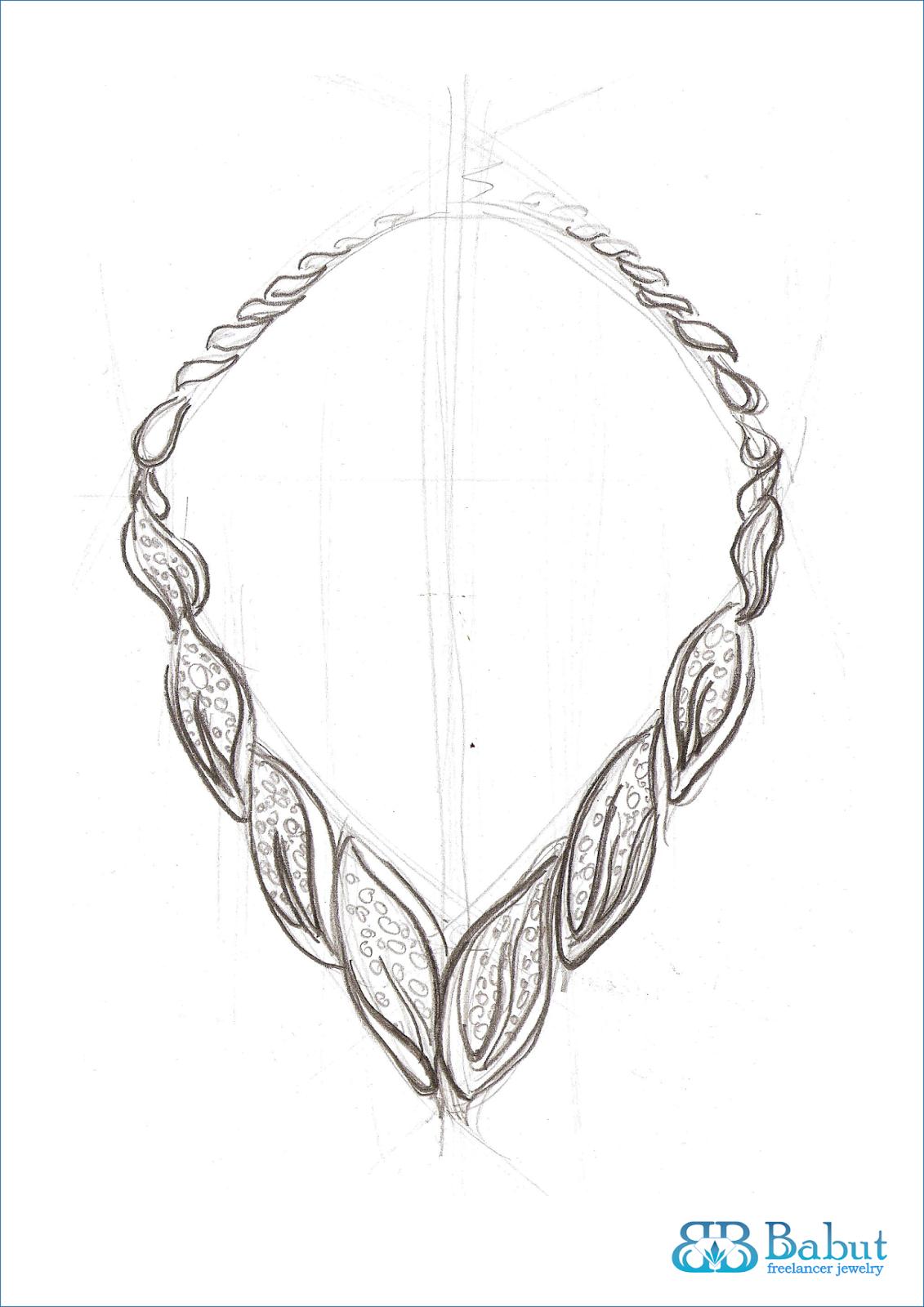 Jewelry Design Line Art : Sketch jewelry babut florin valentin mai