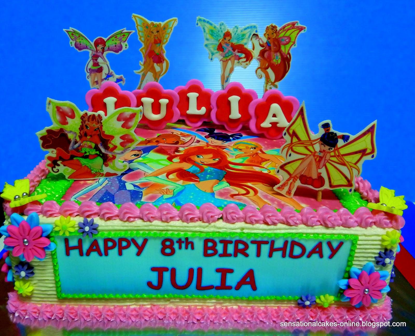 Cake Inspiration Winx Club Birthday Fairies 2d Cake Singapore