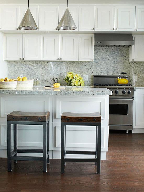 2013 white kitchen decorating ideas from bhg finishing