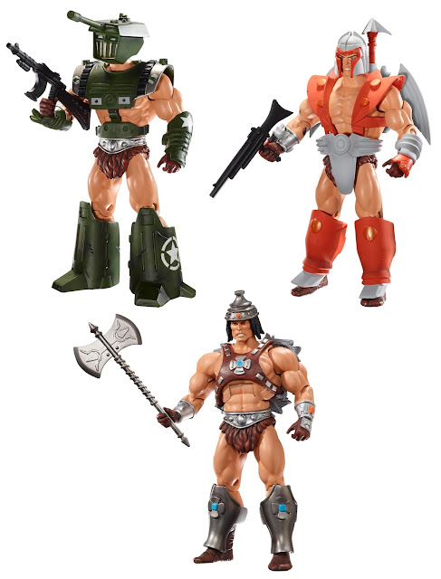 San Diego Comic-Con 2012 Exclusive Vykron Masters of the Universe Action Figure by Mattel - Military Warrior, Spaceman & Barbarian