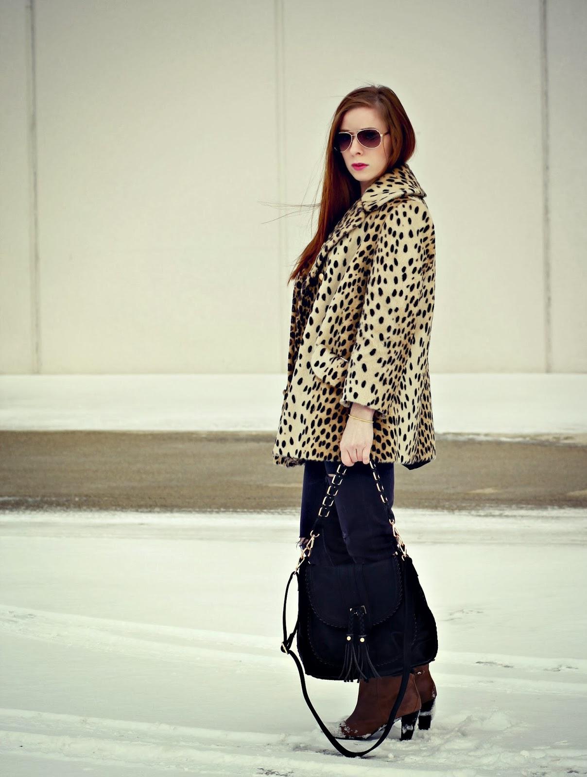 wear vintage leopard coat ideas