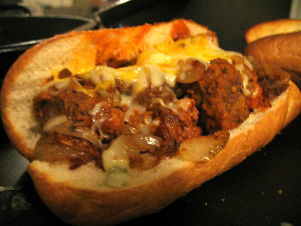 ... Violet's Kitchen: Goat Cheese Meatball Subs with Caramelized Onions