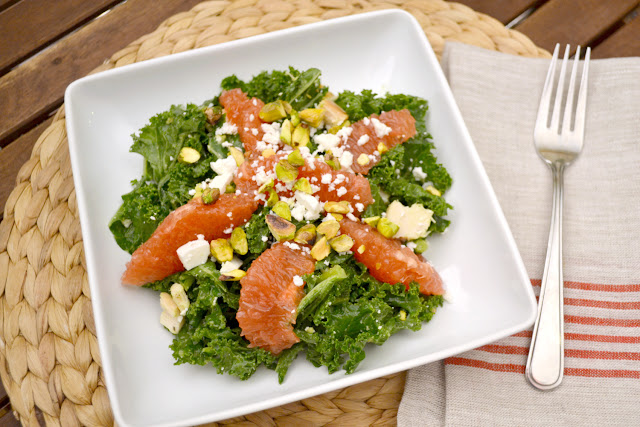 kale grapefruit and avocado salad recipe