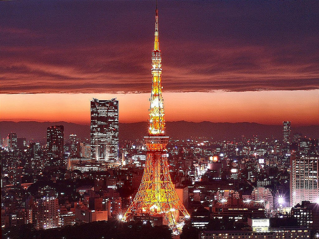 All world visits tokyo tower japan for Torre enfel