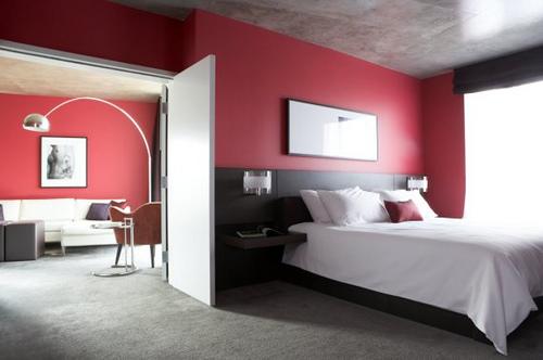 Dise o de dormitorio moderno de color oscuro casas for Dormitorio oscuro